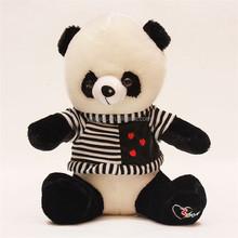 Lovely soft plush striped coat panda bear stuffed toy panda plush