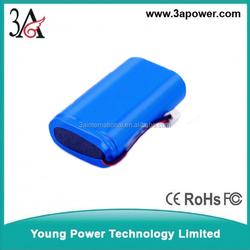 custom samsung 18650 li-ion battery packs lithium 2s2p 7.4v 4400mah Rechargeable Batterie high capacity