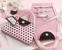 Sell Well Pink Polka Purse Manicure Set Wedding Gift
