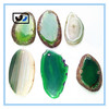 HOT factory China promotion Freeform gemstone drilled polished natural agate slices wholesale