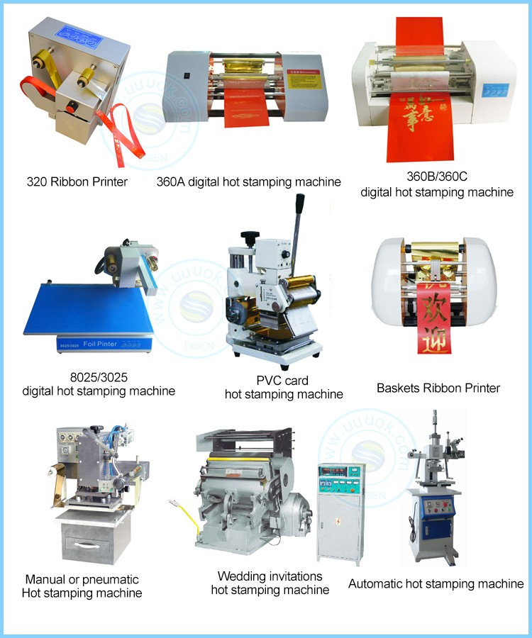 High precision A4 digital automatic 360B hot stamping machine