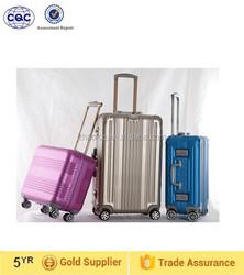 Fashionable and exquise hard trolley luggage, aluminum luggage suitcase