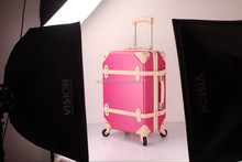 ABS+PC hard abs trolley case aluminum make up trolley case