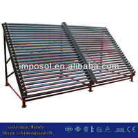 Two-Rows industrial glass tube solar collectors &solar energy system