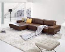 Simple genuine leather sofa set designs modern I shape sofa High quality home furniture