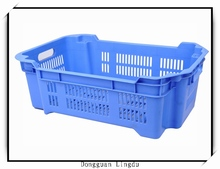 Plastic crate for bread