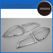 Chrome car trim accent styling gift, Chrome Tail Light Cover for Mitsubishi Pajero Montero Sport
