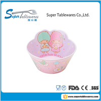 Plastic Mini Kids Pink Girl Bowl For Soup