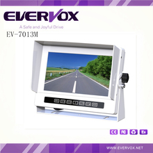 7 inch TFT LCD 800*480 high resolution waterproof monitor with 3 video input
