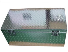 We custom welded storage aluminum case /storage aluminum diamond plate/welding box