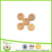 Hot seller imitated bamboo color wooden button decorates for popular wingtip shoes
