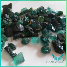 Natural uncut tourmaline product rough stone green tourmaline gemstone prices
