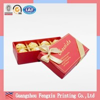 Decorative Printed Cardboard Square Gift Nesting Boxes for Sweets Chocolate