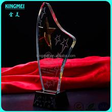 Hot! Newest Wholesale fashion 3D k9 Sport star Crystal award Trophy