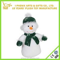 Promotional Christmas Decoration Plush Snowman