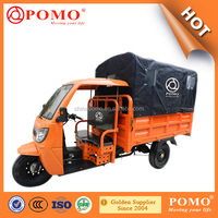 South America Power Semi-Closed Water Proof Middle Engine 250CC Water Cool Cargo Adult Tricycle With Passenger Seat