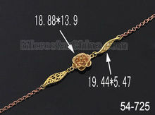 Wholesale jewelry flower shape gold plated copper necklace chain