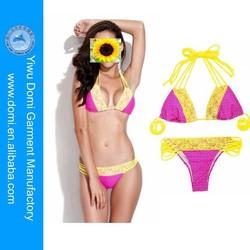 New polka dot and lace bikini strappy details bottom sexy new swimwear
