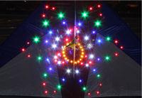 the flower LED night kite