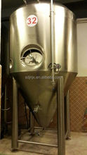 High quality top manway fermenter, stainless steel 304 double wall fermentation tank for sale