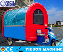 3 Wheels Electro-tricycle Vending Car For Food Sale