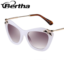 Delicate Female Sunglasses K808 White