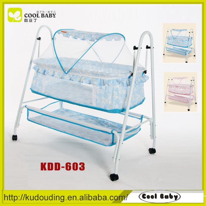 fabricant portable lger swing lit bb avec moustiquaire et panier de rangement bascule lit pour