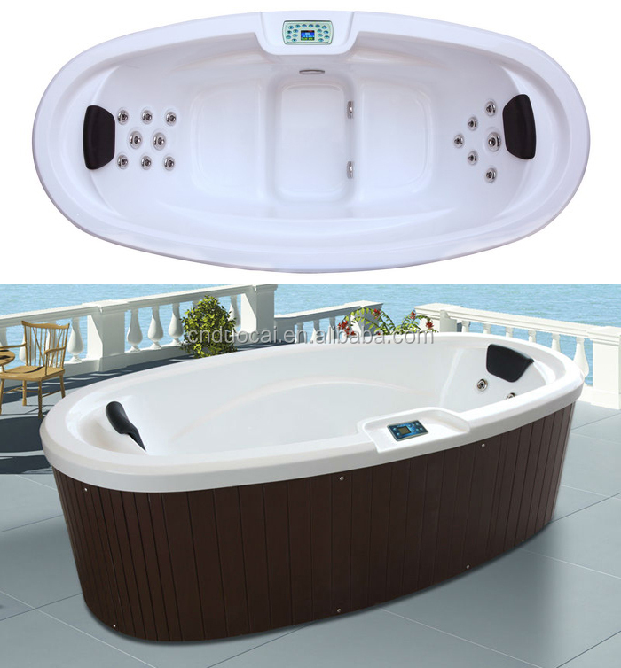 Luxury indoor bathroom tubs with big size oval shape ha for Oval tub sizes