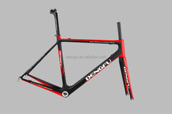 only 970g !!!2014 Dengfu hot selling cheap road bike frame super light frame carbon road Chinese carbon road bicycle frame