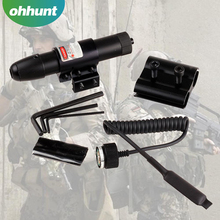 Hunting outdoor Tactical red dot Ar15 laser sight With Pressure Switch 11mm 20mm Barrel Mount
