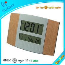 Sunny Digital Wooden Radio Controlled Wall Clock