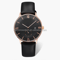 2015 New Coming Waterproof japan movt watch stainless steel case with quartz watch leather strap