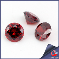 Garnet Cubic Zirconia Beads for Demonstration