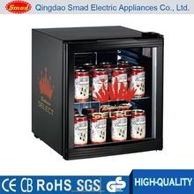 Beverage Cooler Mini Fridge,Compact Glass Door Can Refrigerator