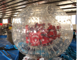 zorb ball for bowling Inflatable Blue Land Zorb Ball for Sale