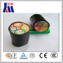 low voltage 4 cores pvc insulated pvc sheathed underground power cable