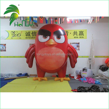 2015 wholesale inflatable red lucky bird with pvc material
