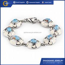 ERB0025 316l murano glass stainless steel jewelry bracelet