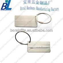 la promoción de los productos del alumium cepillado de etiquetas de equipaje