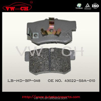 High quality Brake pads with reasonable price 43022-S9A-010