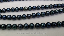 wholesale AAA 6-6.5MM white black round loose freshwater pearls strand