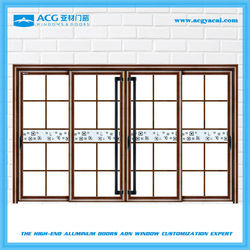 Good quality painted glass fire rated aluminum large house door