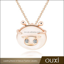 2015 OUXI Portuguese christmas cute necklace made with Austrian crystal