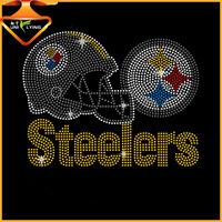 Customized steelers hot fix rhinestone transfer