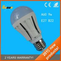 7W 9W E27 LED bulb light with CE, RoHS