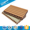 Decorative Walls And Ceilings Wooden Grooved Acoustic Panel