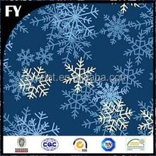 Factory custom high quality digital snowflake printed organza fabric