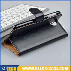 Mobile phone flip magnetic pu leather case for lenovo a850