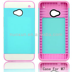 PC+TPU Fashion cheap mobile phone case for htc