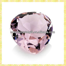 Customized Pink Crystal Diamond Paperweight For Business Cooperation Gifts